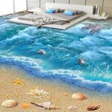 Self adhesive 3D SeaWorld decorative painting floor painting wallpaper paste PVC floor flooring wear thick waterproof wall paper