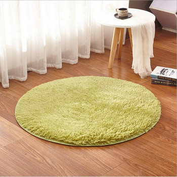 Home Supplies 1 Size Coral Fleece Soft Round Carpet Non-Slip Water Drawing Floor Rug Chair Yoga Mat For Bedroom Living Room