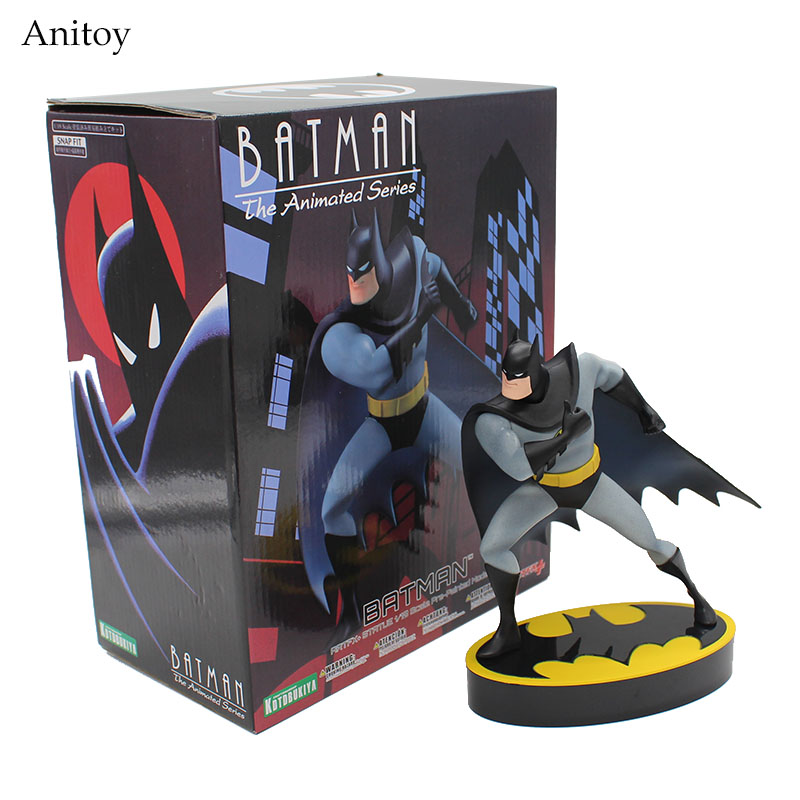 ARTFX + STATUE Batman The Animated Series 1/10 Scale Pre-painted Figure Model Kit 19cm KT3784 artfx statue dc super hero red robin 1 10 scale pre painted figure collectible model toy