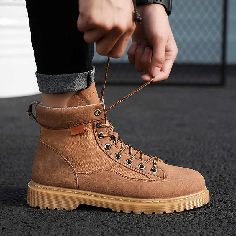 Mens Womens Classic Ankle Boots Flat Combat Real Leather Martine Shoes UK Sizes