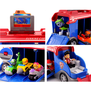 Image 4 - Paw Patrol Rescue Bus Dog Patrulla canina Toys Anime Vehicle Car Plastic Toy Action Figure Model Birthday Gifts Toy For  Child