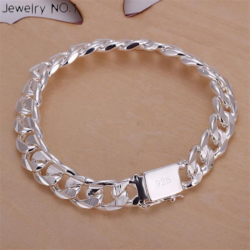 Square Charm Bracelet: Jewelry Bracelets Bangles 925 Sterling Silver Jewelry Loom