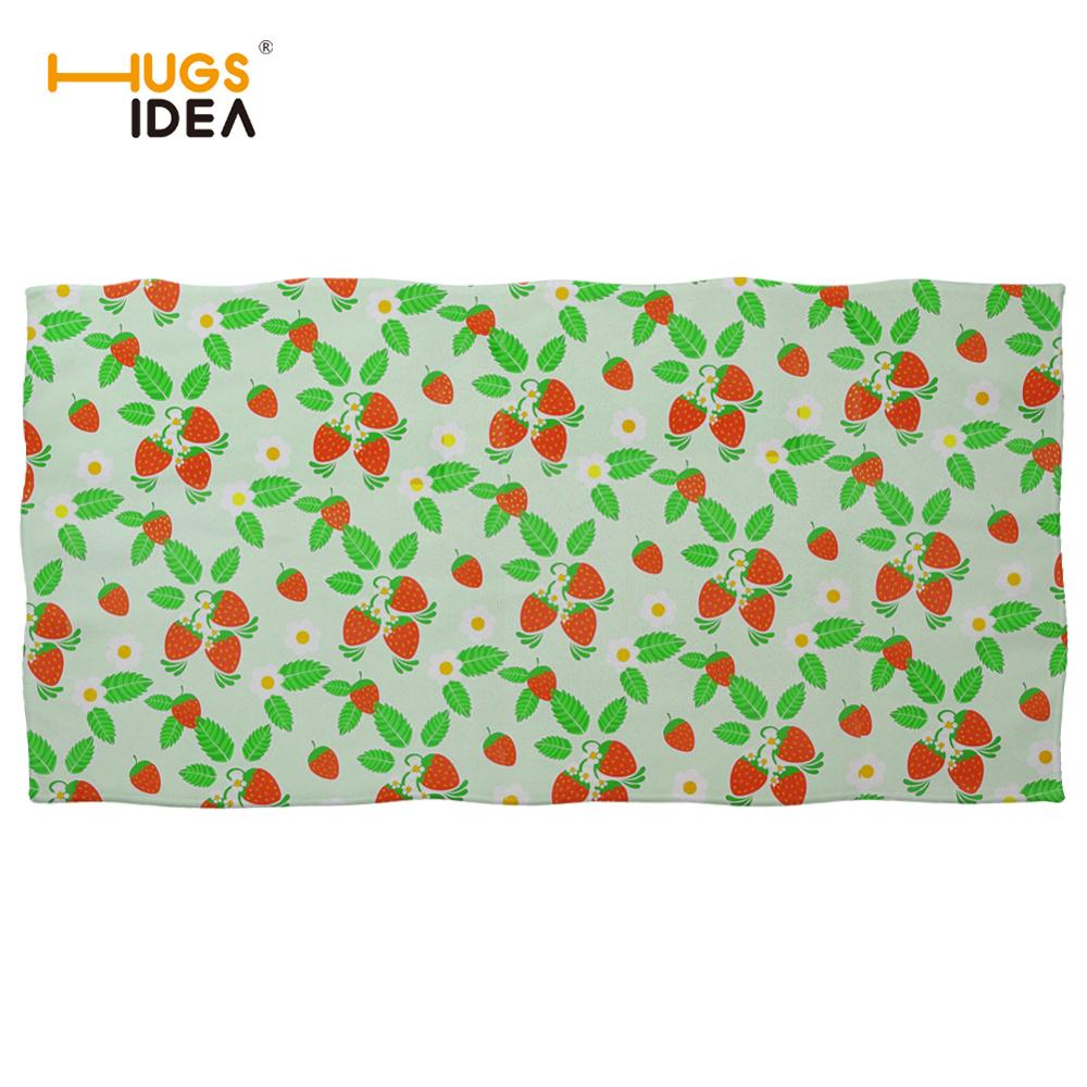 HUGSIDEA Microfiber Beach Towel Strawberry Summer Bath Towels for Adults Big Beach Mat Quick Dry Swimming Pool Poncho Blanket in Bath Towels from Home Garden
