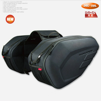 Promotion deal Motorcycle Saddle bag Saddlebags luggage Suitcase Motorbike Rear Seat Bag Saddle Bag with Waterproof Cover SA212