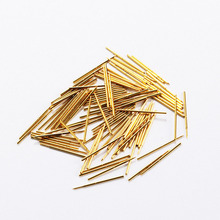 100 Pcs Phosphor Bronze Nickel Plating Test Probe Length 16.35mm Spring Pointed Electronic Appliance PA50-F1 Gold Tool