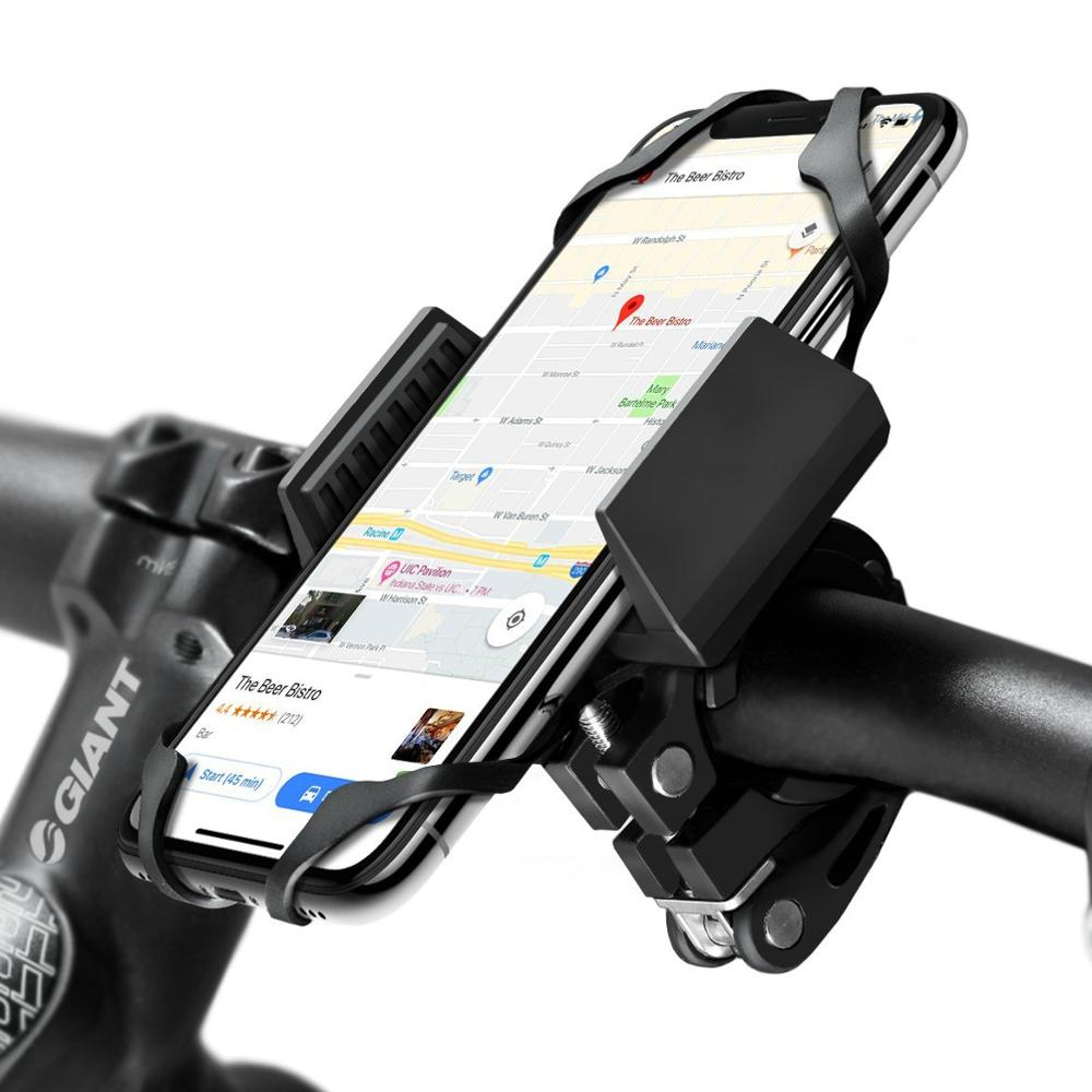 Phone Bike Mount and Motorcycle Cell Phone Holder 2nd Generation For iPhone  Samsung Galaxy GPS Mountain Road Bicycle