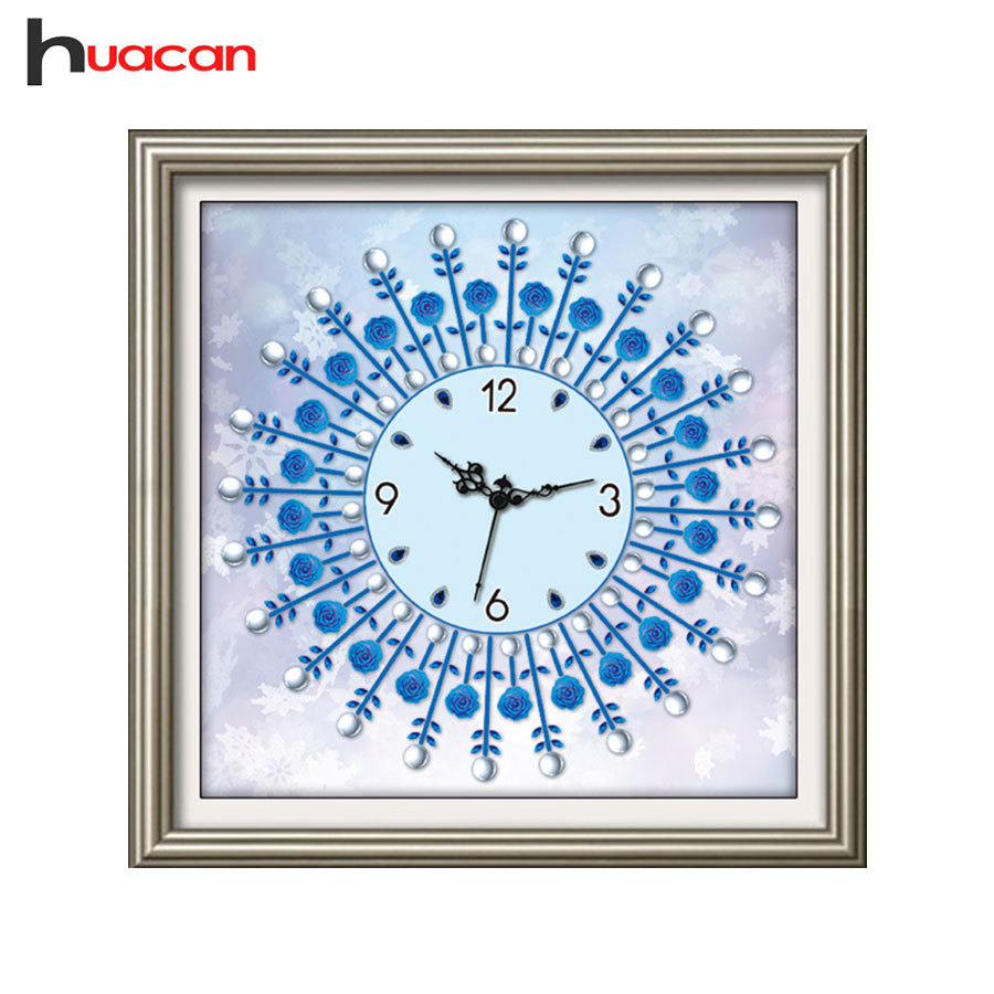 Huacan,ClockDiamond Painting Cross Stitch Unfinished Home Decor,Special Shape Rhinestone Mosaic Diamond Embroidery Craft GiftHuacan,ClockDiamond Painting Cross Stitch Unfinished Home Decor,Special Shape Rhinestone Mosaic Diamond Embroidery Craft Gift