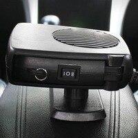 オートヒーターファン車加熱冷却デュアル機能ポータブル12v車車両電気ヒーターポータブルでスイング-アウトハンド