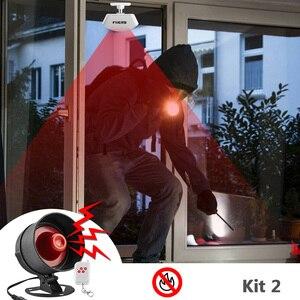 Image 2 - Система сигнализации Fuers, сирена, динамик, громкий звук, домашняя сигнализация, беспроводной детектор, система безопасности для дома, гаража