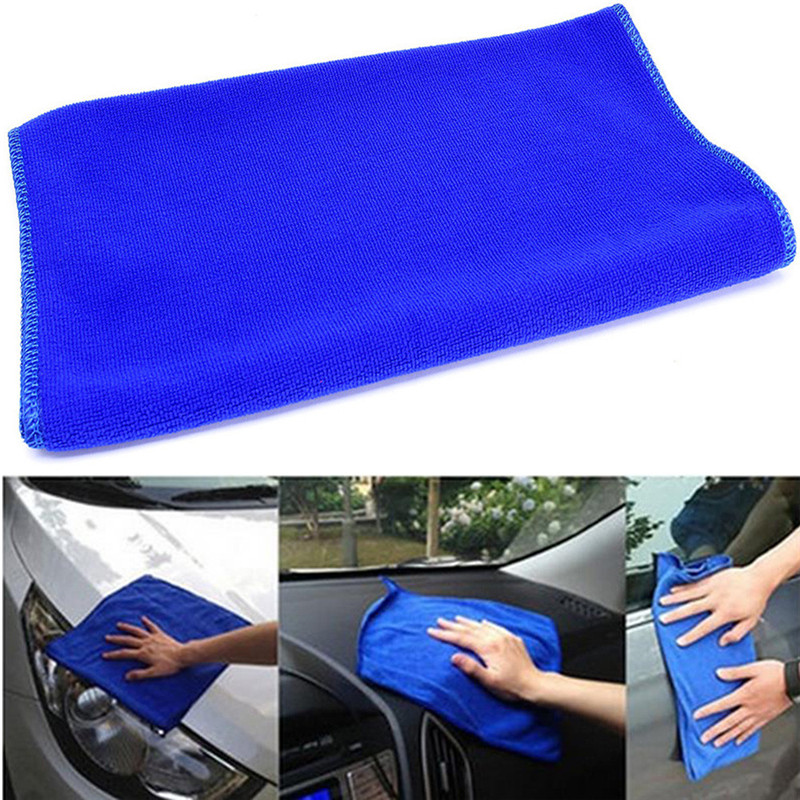 New Arrival Practical 1Pcs Blue Soft Absorbent Wash Cloth Car Auto Care Microfiber Cleaning Towels 170923 ...
