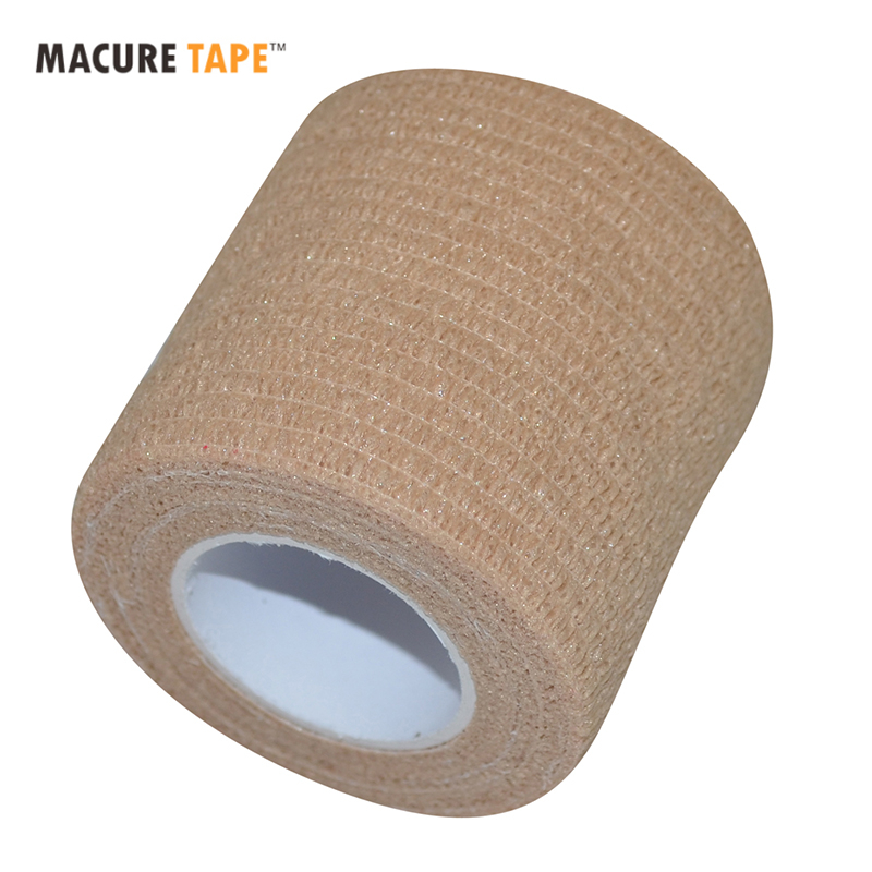 цена на Macure Tape 5cm x 4.5m Coban Cohesive Elastic Bandage Self Adhesive Adherent Bandage Tender Tape Hockey Stick Tapes
