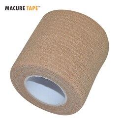 Macure Tape 5cm x 4.5m Coban Cohesive Elastic Bandage Self Adhesive Adherent Bandage Tender Tape Hockey Stick Tapes