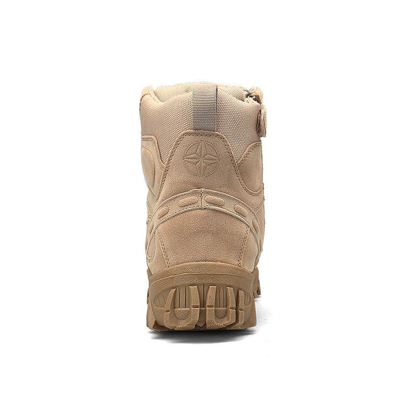 2019 Inverno Stivali Militari di Modo Degli Uomini Dell'esercito Stivali Degli Uomini s 'Deserto Tattico di Combattimento Stivali Alti Alla Caviglia Superiore Degli Uomini di Lavoro All'aperto scarpe da Uomo