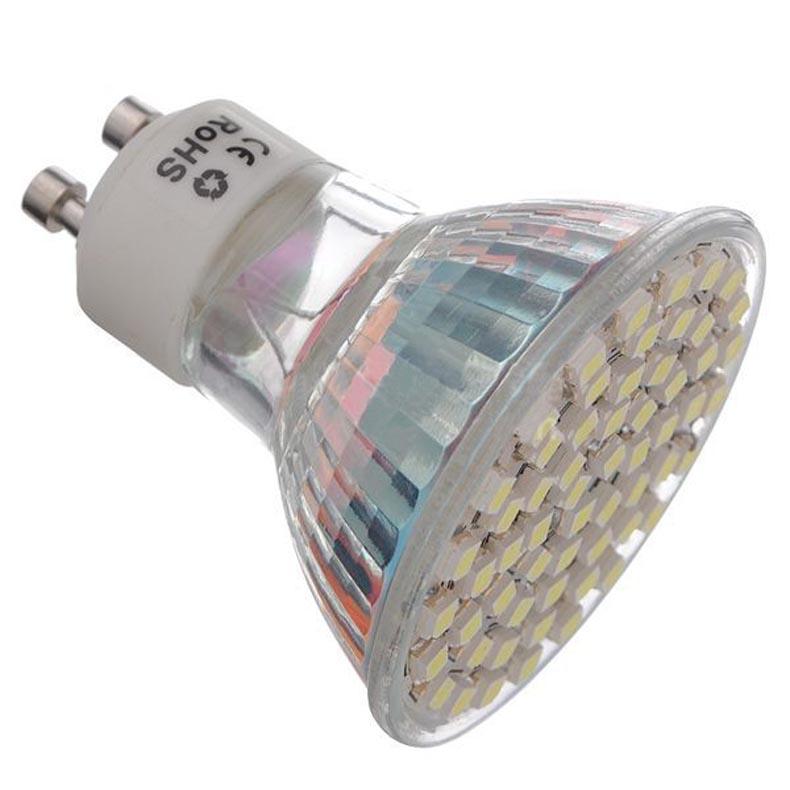 Купить с кэшбэком 10pcs  3W GU10 LED Spotlight 60 SMD 3528 240 lm   Warm White/Cool White Energy saving lamp LED Light Spot Lamp (AC200-240V)