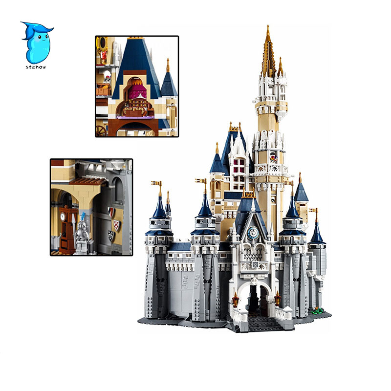 Stzhou LEPIN 16008 Cinderella Princess Castle City Model Building Block Kid Educational Toys For Children Gift Compatible lepine 16008 cinderella princess castle 4080pcs model building block toy children christmas gift compatible 71040 girl lepine