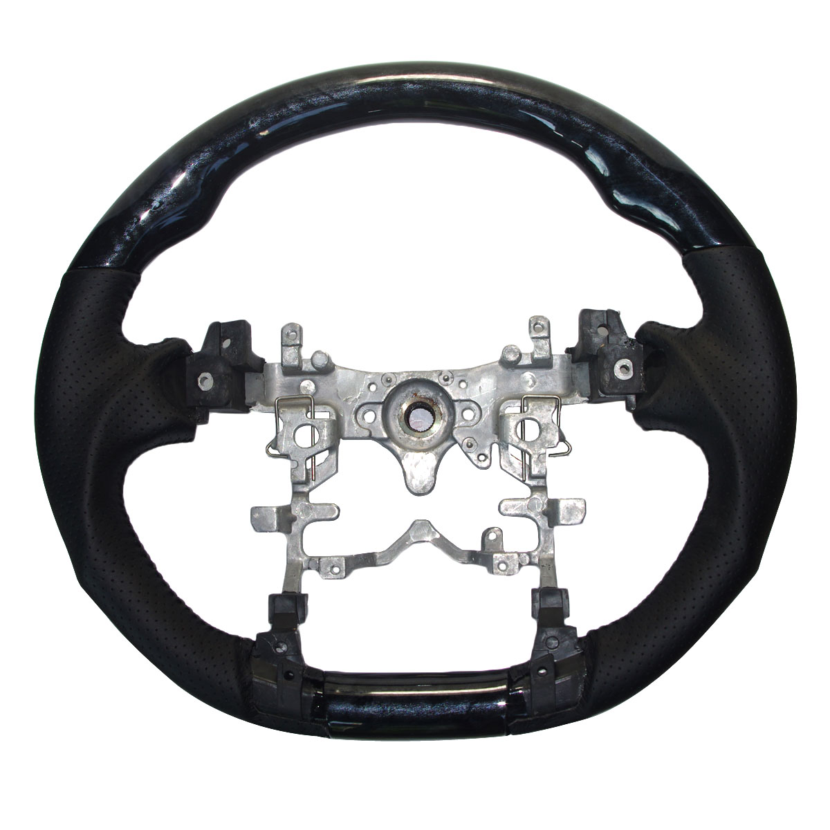 Черный кожаный деревянный спортивный руль для 2010 2015 Toyota PRIUS Hybrid ZVW30 35 40 41 2012 2014 Prius C Aqua V|Рулевые колеса и клаксоны|   | АлиЭкспресс