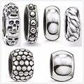 Thomas estilo titanium perlas karma, accesorio de banda estrecha de men & women joyería de diy handmaking collar y pulsera glam y alma