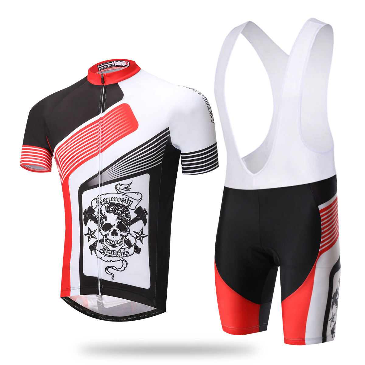 XINTOWN Red Bib Short Sets Team Men Cycling Jersey Set Cyclist Bike Bicycle Outdoor Short Sleeve Jersey Bib Tight Shorts xintown bicycle cycling sweat absorbent short sleeves dacron jersey pants set red black l
