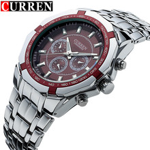 Curren Mens Top Brand Luxury Business Watch Clock Men Stainless Steel Quartz Analog Male Wrist Relogio Masculino xfcs