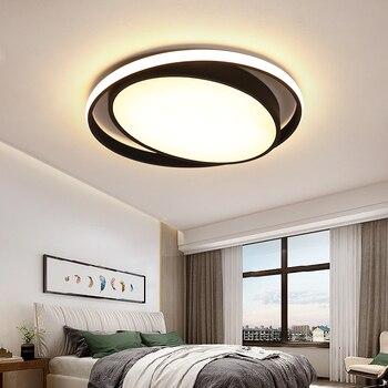 Superficie montada Blanco/Negro Color moderno led luces de techo para sala de estar habitación de estudio hogar lámpara de techo redonda accesorios