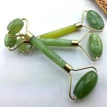 Kanbuder двойная головка массажный ролик для лица Jade для похудения лица для тела голова шеи природа устройство Прямая 8m19