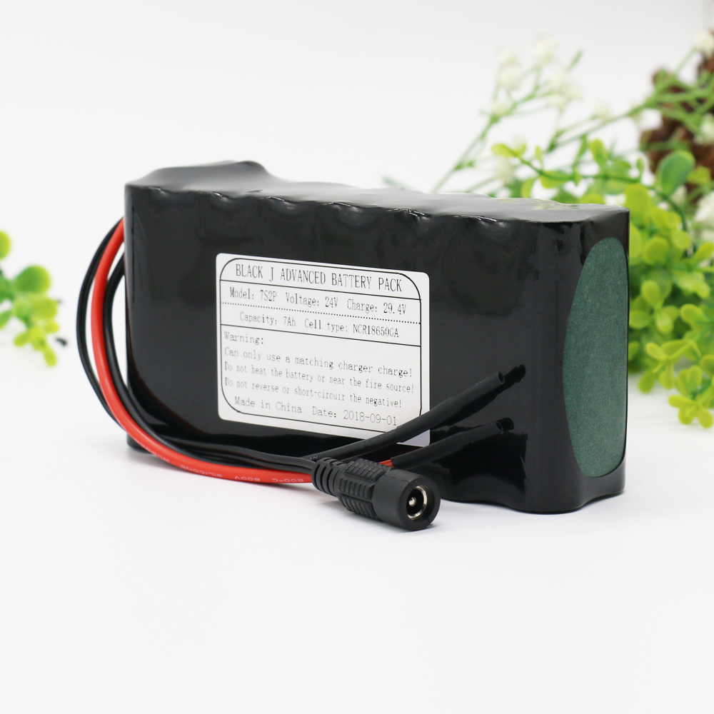 KLUOSI 7S2P 24V Battery 29.4V 7Ah NCR18650GA Li-Ion Battery Pack with 20A BMS Balanced for Electric Motor Bicycle Scooter EtcKLUOSI 7S2P 24V Battery 29.4V 7Ah NCR18650GA Li-Ion Battery Pack with 20A BMS Balanced for Electric Motor Bicycle Scooter Etc