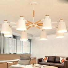 Led Nordic IKEA Wohnzimmer Kronleuchter Moderne Einfache Log Schlafzimmer Studie Esszimmer Beleuchtung Makkalon Kronl