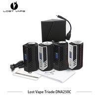 2pcs/lot Electronic cigarette Lost Vape Triade DNA250C 300W box mod triple 18650 LostVape Vape E Cigarettes VS SMOK Vaporizer
