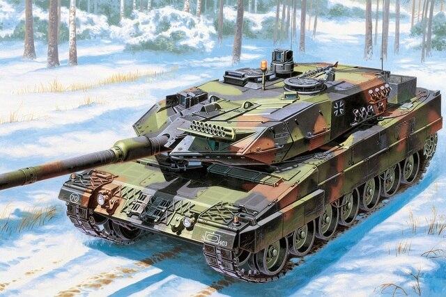 custom fabric poster Leopard 2A6 German main battle tank