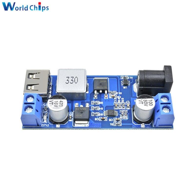 Ersetzen LM2596S DC-DC 24 V/12 V Zu 5V 5A Step Down Power Supply Buck Converter Einstellbare USB schritt-unten Lade Modul Für Telefon