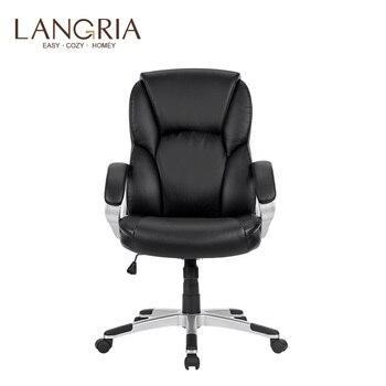 LANGRIA moderno y ergonómico de cuero silla de oficina ejecutiva con ...