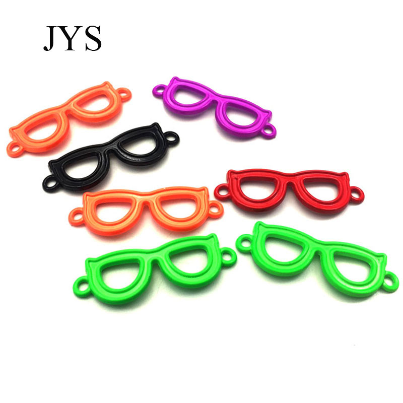 FREE SHIPPING 14*39MM 12PCS/LOT ZINC ALLOY GLASSES CHARMS METAL CHARMS PEACE CHAMRS FOR JEWELRY FINDING FOR NECKLACE BRACELET