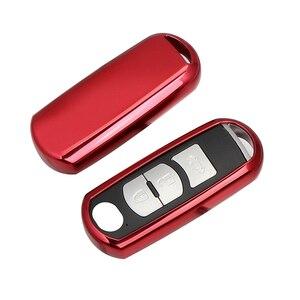 Tpu macio chave do carro fob capa caso proteger para mazda 2 mazda 3 mazda 5 mazda 6 CX 3 CX 4 CX 5 CX 7 CX 9 atenza axela mx5 carro stylin|Estojo de chaves p/ carro| |  -
