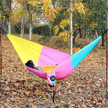 Army green, hammock with mosquito nets, single size person 260*140 cm and double person 300*140 cm.