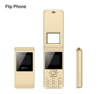 China Clamshell Mobile Flip Phone 2017 Senior elder Old Man cell phone big Call Dual sim FM Radio Russian keyboard Mobile phone