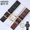 Para Daniel Wellington 16 18 20 22mm Watch Band Para Calvin Klein Relógio Relógios Cintas Cinto de Interface Plana Feminino Montre Relogio