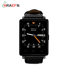 Hraefn D6 3G Smartwatch Phone Android 5.1 MTK6580 Quad Core 1.3GHz 1GB RAM 8GB ROM 1.63 inch WiFi Bluetooth 4.0 GPS smart watch
