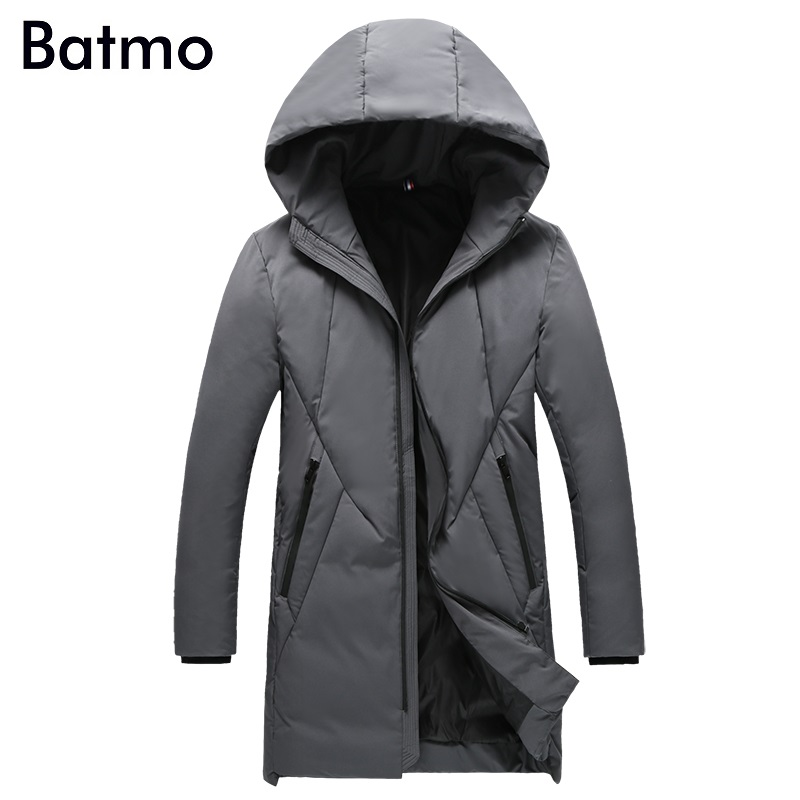 Batmo 2018 new arrival winter high quality 80% white duck   down   jackets men,men's winter warm   coat   ,plus-size M-4XL B34
