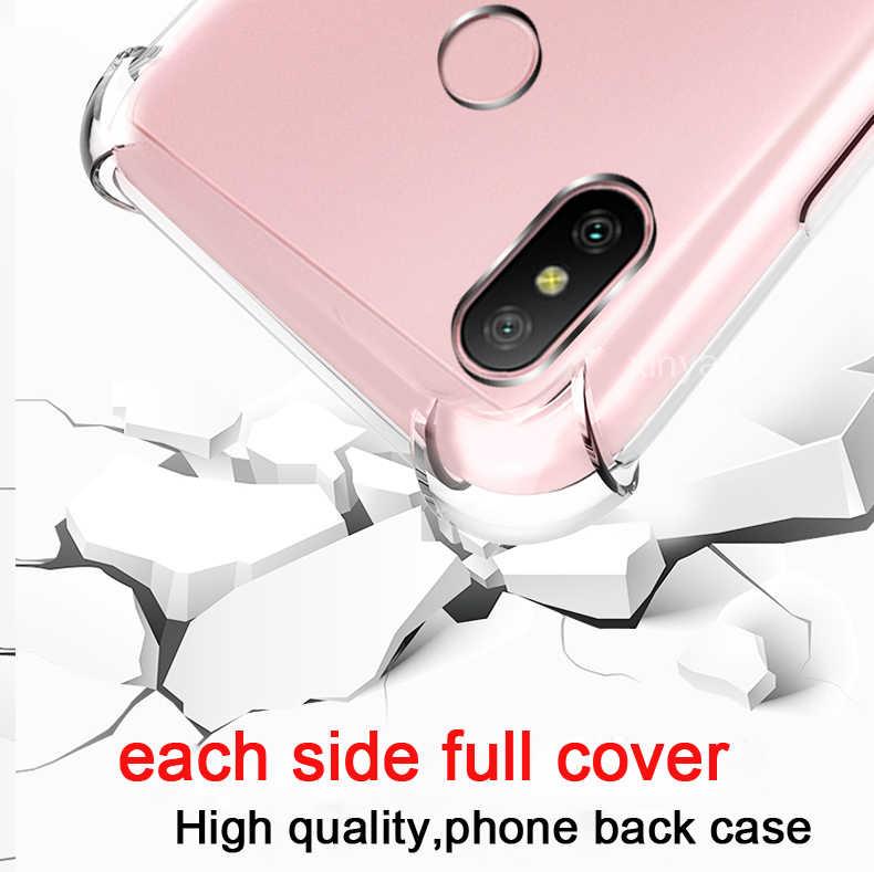 クリアソフトバンパー耐衝撃カバーケース Xiaomi 8 8SE Mi8 Redmi 注 7 プロ 6A 6 S2 Y2 Pocophone f1 シェルエアクッションシリコーン