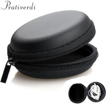 цена на prativerdi Earphone Holder Case Carrying Hard Box Storage Bag for Earphone Accessories Earbuds memory Card USB cable organizer