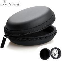prativerdi Earphone Holder Case Carrying Hard Box Storage Bag for Earphone Accessories Earbuds memory Card USB cable organizer сабо prativerdi