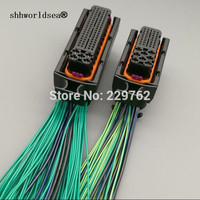 shhworldsea 81 pin + 40 pin car ecu connector 368376 1 electrical 81pin 40pin ECU A modified connector 1J0906385C 1J0 906 385C