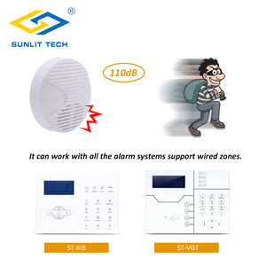 Image 5 - 2pcs/Lot 12V Mini Indoor Wired Horn Siren High Quality ABS Housing Wired Hooter Home Security Sound Alarm Strobe System 110dB