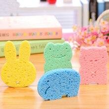 4 цвета милые животные Детские губки для ванны Детские аксессуары для душа мягкий материал скраб шар для душа для младенцев