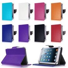 Universal de LA PU Del Soporte Del Cuero Cubierta de la Caja De Ostras T72 HA 3G para lenovo tab 2 tab2 a7-20 a7-20f7 pulgadas tablet pc pad S2C43D