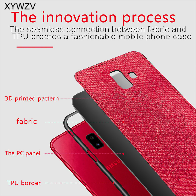 Image 4 - For Samsung Galaxy J6 Plus Case Shockproof Soft Silicone Luxury Cloth Texture Case For Samsung J6 Plus Cover For Samsung J6+-in Fitted Cases from Cellphones & Telecommunications