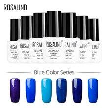 Гель-лак для ногтей ROSALIND, 1S, 7 мл, белая бутылка, 12 синих цветов