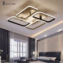 NUEVA Remoto Modernas lámparas de techo para la sala de estar dormitorio moderno lámpara de techo led oscurecimiento casa de iluminación luminarias AC110V-220V