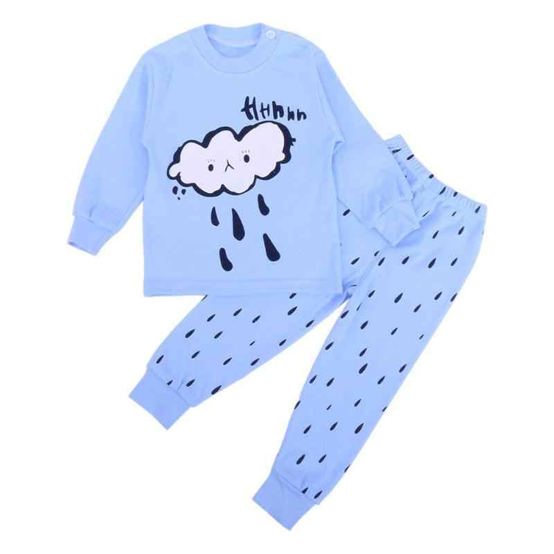 New 2pcs Baby Kid Clothes Spring Autumn Cloud Bear Print Sleepwear Pajamas  Sets Boy Girl Nightwear 2c84573bf