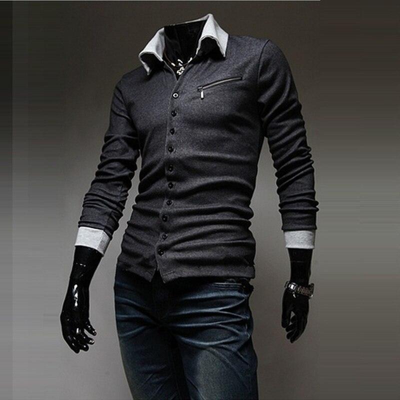 Pullover Zogaa 2019 Neue Männer Mode Lange Ärmel Stricken Shirt Pullover Unterwäsche Warme Business Drehen-unten Kragen Slim Fit Mäntel Männer Stabile Konstruktion